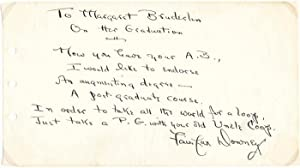 Autograph Quotation Signed.: DOWNEY, Fairfax (1893-1990).