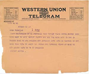 Unsigned Telegram / Facsimile Signature