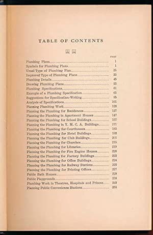 Plumbing Plans and Specifications: COSGROVE, J.J.