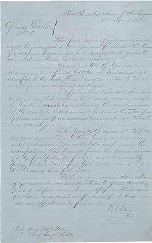 Lee's General Order Number Nine: LEE, Robert E.)