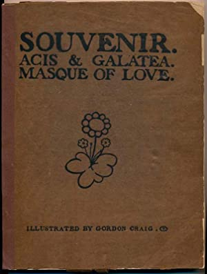 Souvenir: Acis & Galatea -- Masque of Love -- As Produced at the Great Queen Street Theatre, ...