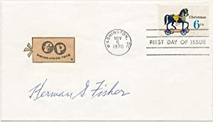 Signed First Day Cover.: FISHER, Herman G. (1898-1975).