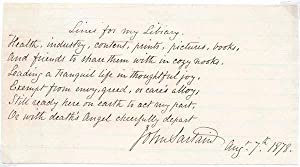 Autograph Quotation Signed.: SARTAIN, John (1808-97).