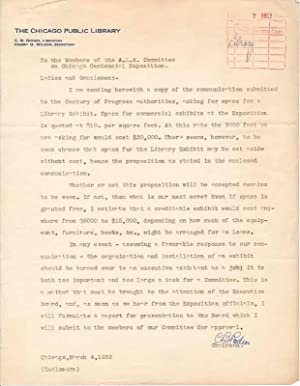 Typed Letter Signed.: RODEN, Carl B. (1870-1956).