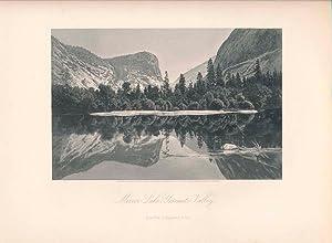 Mirror Lake Yosemite Valley: PICTURESQUE AMERICA / PRINT / YOSEMITE VALLEY)