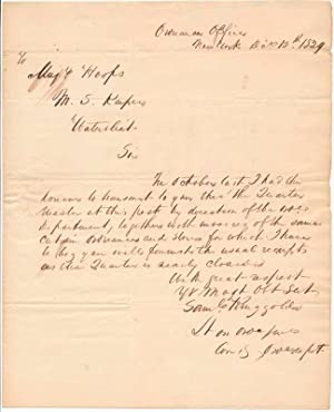 Autograph Letter Signed: RINGGOLD, Samuel (1796-1846)