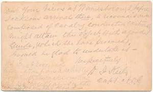 Autograph Note Signed.: KEILY, Daniel J. (1829-67).
