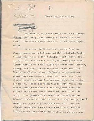 Typed Letter Signed.: SWOPE, Herbert Bayard (1882-1958).