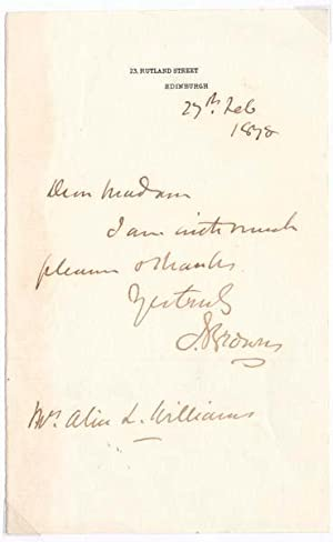 Autograph Note Signed: BROWN, John (1810-82)