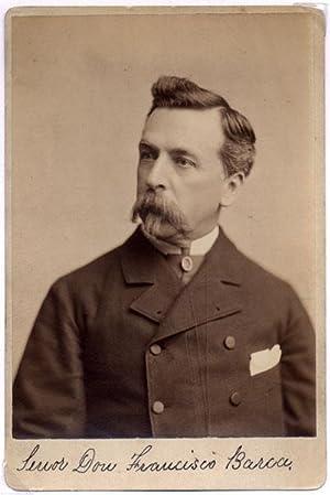 Photograph Signed.: BARCA, Don Francisco (1831-83).