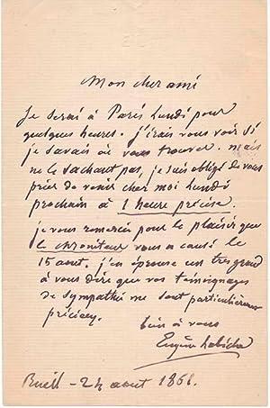 Autograph Letter Signed: LABICHE, Eugene (1815-88)