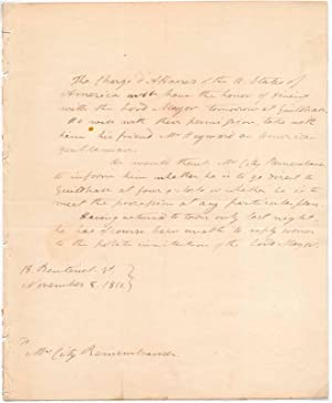 Autograph Letter (unsigned).: SMITH, John Spear (1786-1866).