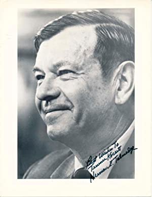 Inscribed Photograph Signed: TALMADGE, Herman E. (1913-2002)