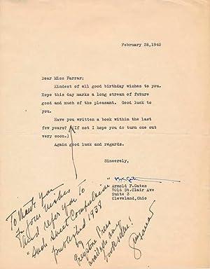 Autograph Note Signed / Unsigned Photograph.: FARRAR, Geraldine (1882-1967).
