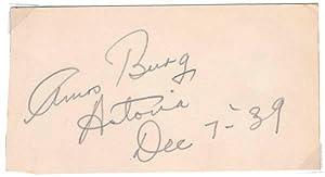 Signature: BURG, Amos (1901-86)