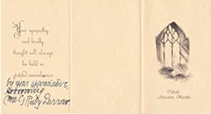 Printed Card Signed: DARROW, Ruby (1869-1957)
