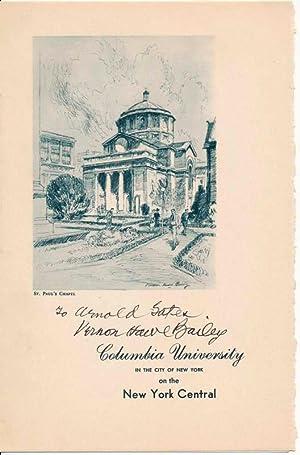 Signed Leaflet.: BAILEY, Vernon Howe (1874-1953).