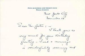 Autograph Note Signed: PARRISH, Anne (1888-1957)