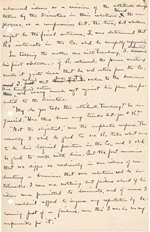 Typed Note Signed / Autograph Manuscript (unsigned): ORCUTT, William Dana (1870-1953)