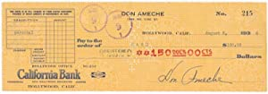 Partly-printed Typed Document Signed.: AMECHE, Don (1908-93).