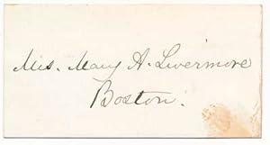 Signature / Unsigned Portrait.: LIVERMORE, Mary A. (1820-1905).