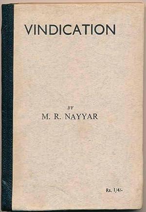 Vindication.: NAYYAR, M.R.