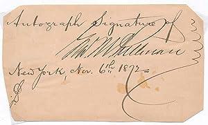 Signature.: PULLMAN, George M. (1831-97).