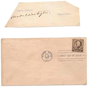 Signature / Unsigned First Day Cover: WASHINGTON, Booker T. (1856-1915)