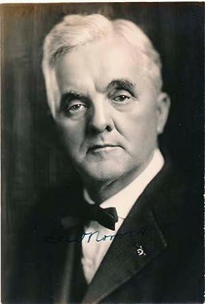 Photograph Signed.: NORRIS, George William (1861-1944).
