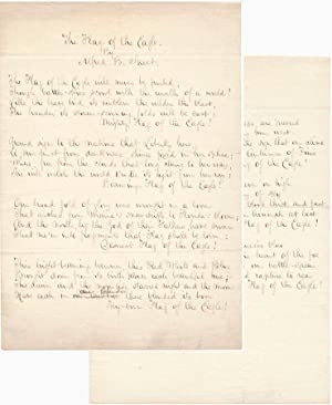 Autograph Manuscript Signed.: STREET, Alfred B. (1811-81).