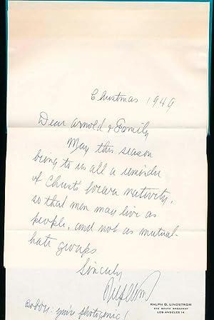 Lincoln Finds God.: LINDSTROM, Ralph G.