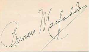 Signature: MacFADDEN, Bernarr (1868-1955)