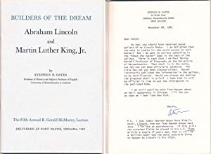 Builders of the Dream: Abraham Lincoln and Martin Luther King. Jr.: OATES, Stephen B.