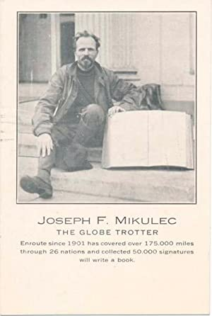 Photograph Signed (verso).: MIKULEC, Joseph F. (1878-?).