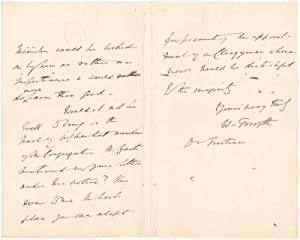 Autograph Letter Signed.: FORSYTH, William (1812-99).