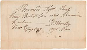 Autograph Document Signed