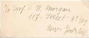 Photograph Signed / Calling Card.: DRIESCH, Hans Adolf, 1867-1941). DRIESCH, Margarete ...