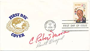 Signed First Day Cover: MOORE, C. Robert (1920-2001) and WENZEL, Pael E. (born 1935)