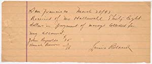 Autograph Document Signed.: BLANK, Louis (?-1895).