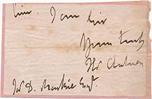 Signature and Salutation: CHALMERS, Thomas (1780-1847)