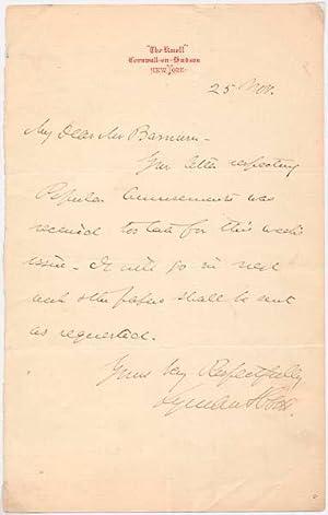 Autograph Note Signed.: ABBOTT, Lyman (1835-1922).