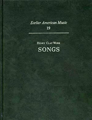 Songs. Introduction by H. Wiley Hitchcock.: WORK, Henry Clay.