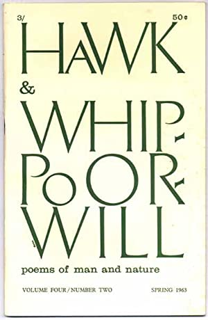 Hawk & Whippoorwill: Spring 1963 (Volume Four, Number Two).: DERLETH, August (editor).