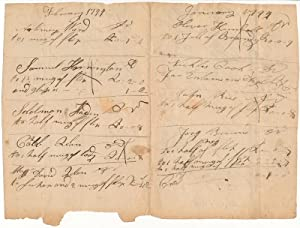 Autograph Document (unsigned)