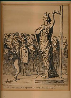 La France se preparant a passer ses candidats sous la toise.: DAUMIER, Honore (1807-79).