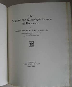 The Trees of the Genealogia Deorum of Boccaccio.: WILKINS, Ernest Hatch.