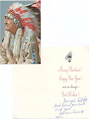 Unsigned Color Photograph / Autograph Note Signed / Typed Note Signed: RED FOX, Chief ...