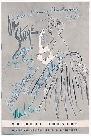 Signed Program.: PROSER, Monte (1904-78).