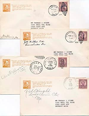 Group of Six Postal Covers: LINCOLN, Abraham -- Philatelic)