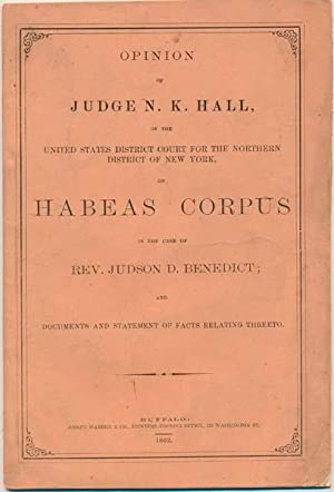 Opinion of Judge N.K. Hall, of the United States District Court for the Northern District of New ...